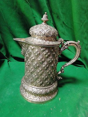 Silver Plated Jug, Beautifully Chased And Designed, 1860, English, Top Quality