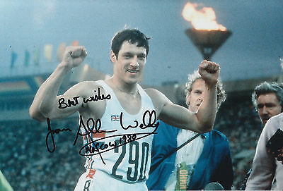 Allan Wells Hand Signed 12x8 Photo 1980 Moscow Olympics.