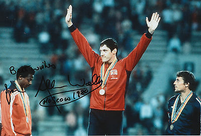 Allan Wells Hand Signed 12x8 Photo 1980 Moscow Olympics 2.