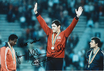 Allan Wells Hand Signed 12x8 Photo 1980 Moscow Olympics 3.