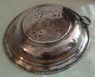 Colador Muy Antiguo De Latón Siglo Xix - Very Old Brass Strainer 19Th Century