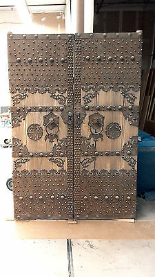 Antique Chinese Courtyard Doors Elm And Iron  62 Wide By 89 High