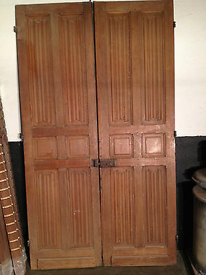Linen Fold carved antique doors, English white Oak, over 150 years.