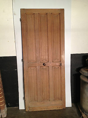 Linen Fold carved antique door, English white Oak, over 150 years.