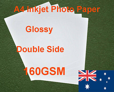 250 sheets A4 160GSM Inkjet Double Side Glossy Photo Paper