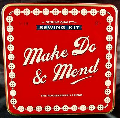 SEWING KIT-IN A TIN. By HOME FRONT.