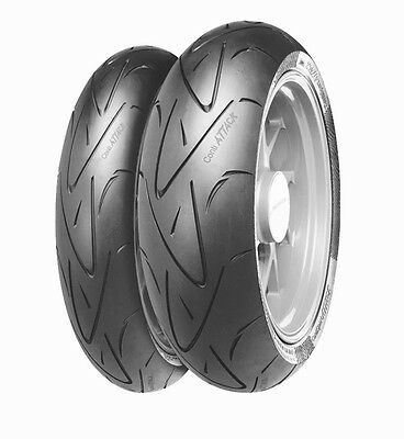 MOTORCYCLE Tyres Continental Conti SPORT ATTACK 120/70/ZR17 & 180/55/ZR17 DUCATI