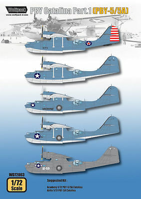 Wolfpack 1/72 decal PBY Catalina Part1 PBY-5/5A for Academy WD72003