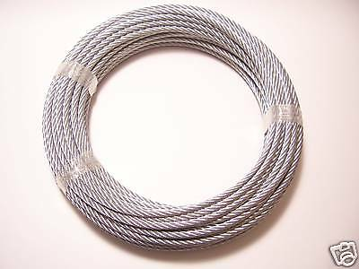 """Galvanized Wire rope Cable  3/8"""", 7x19, 100 ft"""