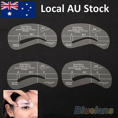 24 Styles Grooming Stencil Kit Make Up Shaping DIY Beauty Eyebrow Template Tools