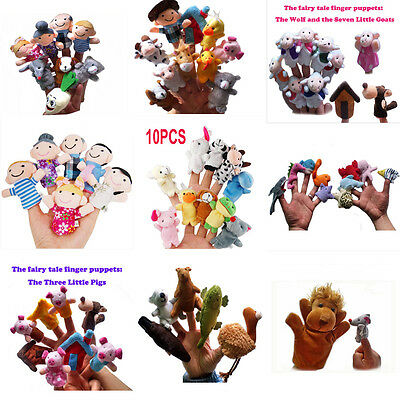 Family Finger Puppets Cloth Doll Baby Educational Hand Toy Story Kid Gift