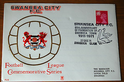 Swansea City 60th Anniversary Year 1971 Football League Commem Series Cover