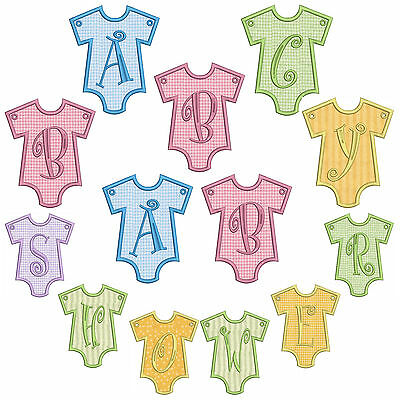 In-The-Hoop Baby Banner * Alphabet * Machine Applique Embroidery Patterns