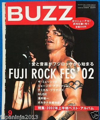 BUZZ Japan Music Magazine 9/2002 Coldplay Sonic Youth Richard Ashcroft Suede