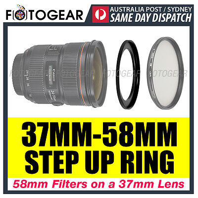 Step Up Ring 37-58mm Filter Lens Adapter 37mm-58mm AUSPOST
