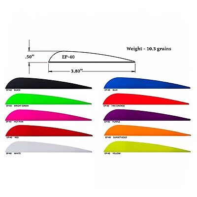 "AAE Plasti-Fletch Elite EP40 3.8"" Vanes for Archery Arrows Compound or Recurve"