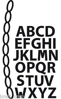 Marianne Design Craftables Cut Emboss Die Stencil Mini Alphabet Garland Cr1281