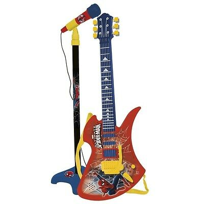Reig Ultimate Spider-Man Guitar and Microphone. Brand New
