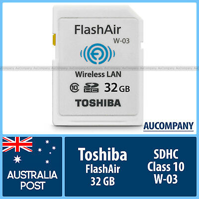 Toshiba 32 GB 32G Flash Air FlashAir Wireless LAN WLAN SD SDHC Class10 wifi W 03