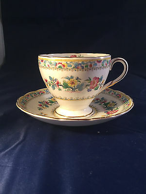 Foley Vintage  Bone China Duo -  Cup and Saucer Ming Rose