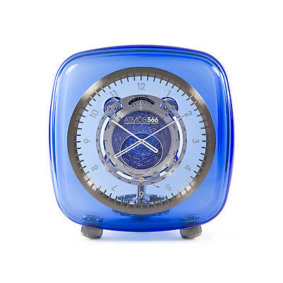 Jaeger LeCoultre Atmos 566 by Marc Newson Baccarat Crystal Blue Dial Crystal