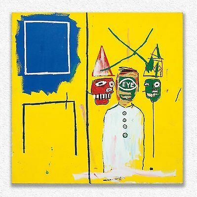 Jean-michel Basquiat   Three Pontificators   140 x 140 cm  STAMPA SU TELA QUADRI