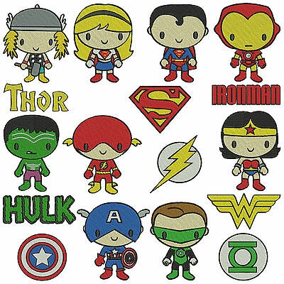 * SUPERHEROS 1 * Machine Embroidery Patterns  * 17 designs