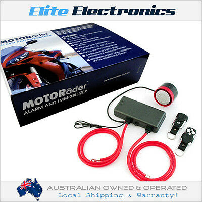 Motorader Waterproof Security Alarm & Immobilizer With Shock Motorcycle Jetski
