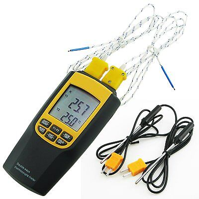 K or J Type Thermocouple Thermometer Probes Portable Temperature Tester Sensors