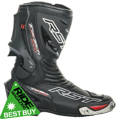 RST Tractech Evo Motorcycle Sports Race Boots - Black