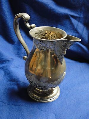 Silver Plated Water Jug, Chased & Engraved Dated 1850, English, Antique, Marked