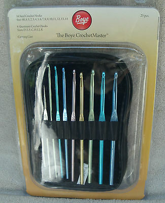 Boye Crochet Master With Carrying Case 25 Piece Set ~ NEW 96207205834