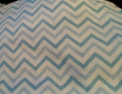 Nursing Pillow Cover   Blue and White Chevron  flannel fabric Fits Boppy Pillow