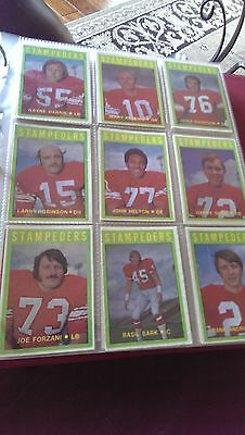 1972-73 O-PEE-CHEE OPC CFL Cards FULL 132 card set