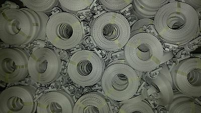 "30 Straps Polypropylene Pre-Cut Strapping White 1/2""x17'"