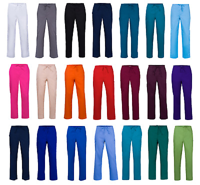 Medical Nursing Vet UNISEX Various Colours, Sizes SIX Pocket Scrub Pants Bottoms
