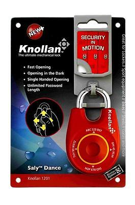 KNOLLAN Saly Dance SPEED RESETTABLE COMBINATION PADLOCK DIAL LIKE JOYSTICK RED