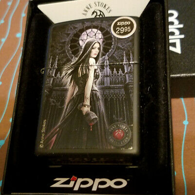 Zippo 28858 Anne Stokes Lady Blood Chalice Black Matte NEW Lighter Free Shipping