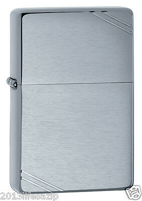 Zippo 230 Vintage 1937 Look w/ Slashes Brushed Chrome Windproof Lighter NEW