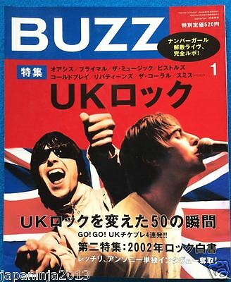BUZZ Japan Music Magazine 1/2003 Red Hot Chili Peppers PIL Blur Coldpaly Oasis