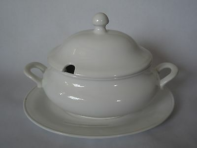 Sur La Table, Large Soup Tureen With Lid And Serving Platter