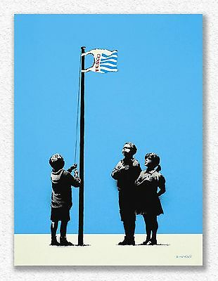 Banksy   Very Little Helps   100x75 cm   STAMPA TELA CANVAS PRINT TOILE LIENZO