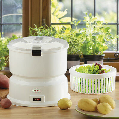 Cooks Professional Automatic Electric Potato Apple Peeler Salad Spinner Machine