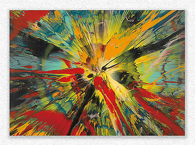 Damien Hirst  Beatiful is this what the big bang looked  64x90 cm  STAMPA TELA