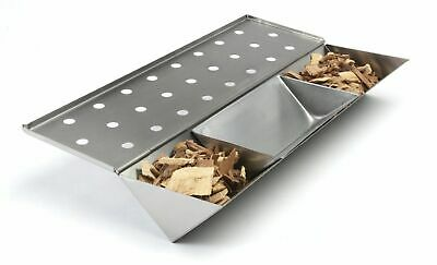 Callow Long Stainless Steel Gas Grill V-Shaped Smoker Box with Water Reservoir