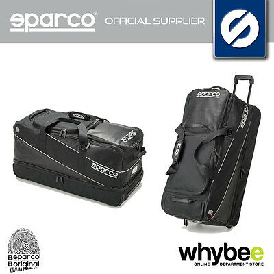 016429NR SPARCO BLACK UNIVERSE BAG HOLDALL LARGE SIZE TROLLEY BAG 40x81x35cm NEW