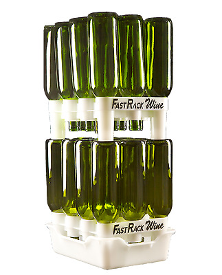 FastRack Bottle Drainer & Drying System, 2 Racks & 1 Tray - Home Brew - 12 Combo