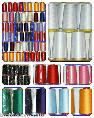 Overlocking Sewing Machine PolyThread 5000 Yard Cone ☆ 33 COLOURS