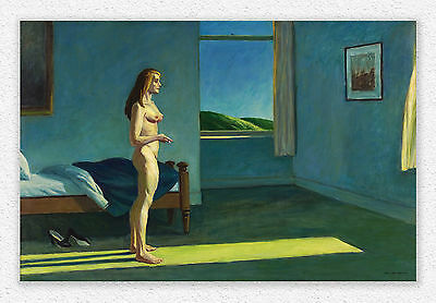 Edward Hopper A Woman in the Sun  l 100x152cm  STAMPA TELA CANVAS PRINT TOILE