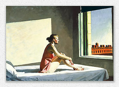 Edward Hopper Morning sun 70x100cm STAMPA TELA CANVAS PRINT TOILE LIENZO QUADRI